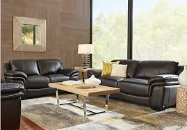 picture of cindy crawford home grand palazzo black leather 3 pc living room from leather living black leather living room