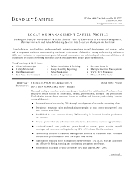 manager resume location manager resume
