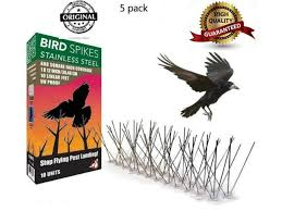 <b>Bird Pigeon</b> 300 Spikes <b>Stainless</b> Steel <b>Repellent</b> Pest Cats 5X50cm ...