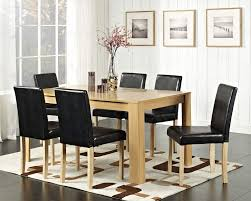 <b>Modern Wooden</b> Walnut Dining Table and 4/6 <b>Faux Leather</b> Chairs ...