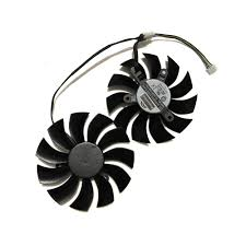 <b>2 Pcs/set 4Pin 85mm</b> Diameter 0.55A GTX 970/750Ti GPU Graphics ...