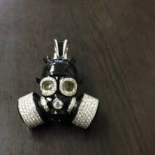 The <b>Skull Gas Mask</b> completes in 18K... - Cad Cam NYC - Custom ...