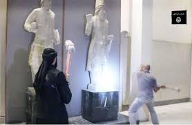 بغداد - تنظيم الدولة الإسلامية يحطم آثار العراق