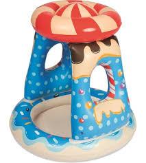 <b>Бассейн Bestway Конфетка детский</b> надувной с навесом 91 х 91 ...