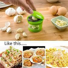 <b>Garlic Grater Mini Portable</b> ABS Stainless Steel Garlic Press ...