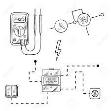 electrical drawing icons the wiring diagram on simple electric circuit schematic