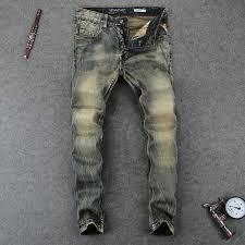 2019 <b>Italian Vintage Style Fashion</b> Men'S Jeans High Quality Slim ...