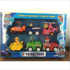 New <b>6pcs Paw Patrol Dog</b> Animal Car Toys Puppy Dog TV Cartoon ...