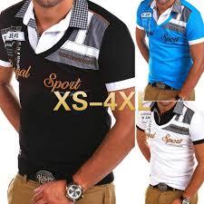 <b>Zogaa New Men's</b> fashion Short Sleeve <b>POLO</b> shirt patchwork <b>Men</b> ...