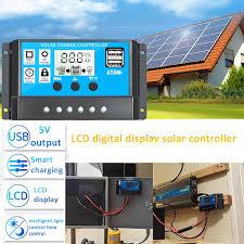 10/20/30A <b>12V</b>/<b>24V</b> LCD <b>Solar Panel</b> Charger Controller Battery ...