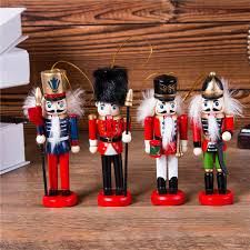 New 4pcs <b>1Set 12Cm</b> High Christmas Holiday Nutcracker ShunBei ...