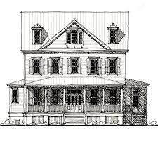 Horseshoe Manor House Plan  C   Design from Allison Ramsey    Horseshoe Manor House Plan  C   Design from Allison Ramsey Architects