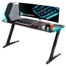 Eureka Ergonomic Z60 Black Gaming <b>Desk</b> with <b>RGB</b> Lights | BEST