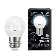 <b>Лампа Gauss LED Globe</b> E27 9.5W 4100K - Gauss ...