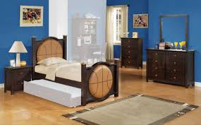 blue bedroom themes for kids by wall with brown wooden bed f basketball headboard added dressing blue kids furniture wall