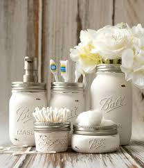 jar crafts home easy diy: mason jar crafts painted distressed bathroom organizer soap