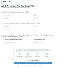 quiz worksheet civil war border states study com print civil war border states definition significance worksheet