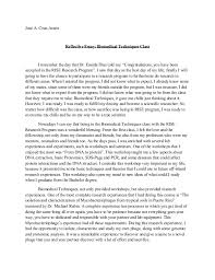 reflective essay biomedical techniques jos a cruz arznreflective essay biomedical techniques classi remember the day that dr