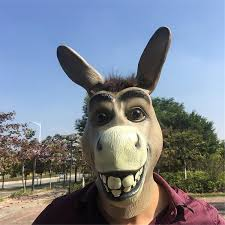 <b>Newest Funny Donkey Head</b> Latex Mask Mr Silly Donkey Mask ...