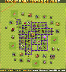 layouts de cv para clash of clans clash of clans dicas gemas dicas do melhor layout para centro de vila 7 th7 base 2016