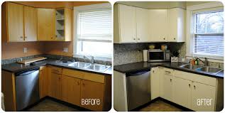 Remodeling Old Kitchen Painted Kitchen Cabinets Before And After Traditional Kitchen