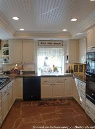 kitchen linear dazzling lights clear ceiling recessed: kitchen renovation recessed lighting beadboard on raised ceiling