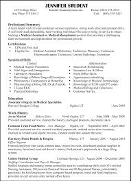 specimen of professional resume cipanewsletter sample of professional resume template for medical assistant