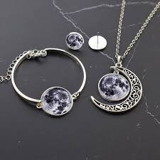 2019 <b>Planet Jewelry Set</b> Solar System Planet Glass Cabochon ...