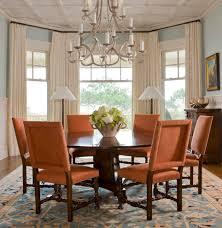 Orange Dining Room Chairs Dining Room Bay Window Curtain Ideas Dining Room Traditional With