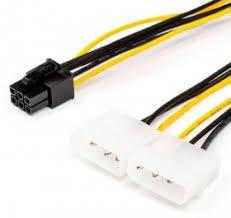 6 pin to 2 molex (Video <b>power</b>), AT6185 <b>кабель</b> - купить с ...