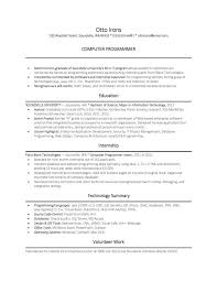 sample resume for computer science  socialsci cosample