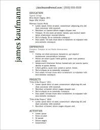 resume examples best free resume templates for word best education experience projects activities best free resume sample resume education