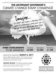 climate essay lieutenant governor s climate change essay challenge sole sole alternative