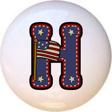 H - <b>American</b> Alphabet <b>Style</b> #<b>2</b> DECORATIVE Glossy CERAMIC ...