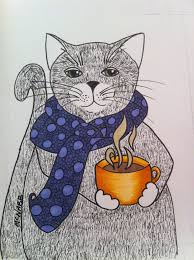 Image result for cat drinking tea