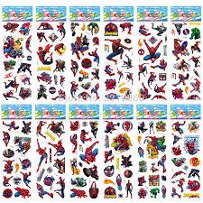 <b>12 sheets</b>/<b>lot</b> Super Hero Spiderman 3D wall stickers Toys <b>DIY</b> Puffy ...