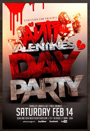 share the love valentine s day templates flyers and cards anti valentines day flyer template