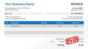 simple invoice template for powerpoint business receipt invoice for powerpoint