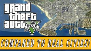 Grand Theft <b>Auto 5</b> | Los Santos <b>Map</b> Size Compared to Real Life ...