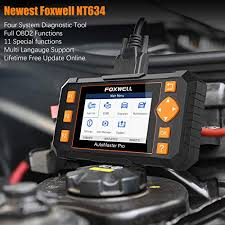 <b>FOXWELL</b> Scan Tool <b>NT634 Obd2 Scanner</b> Aut- Buy Online in ...
