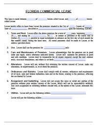 florida commercial lease agreement pdf word doc short form adobe pdf microsoft word