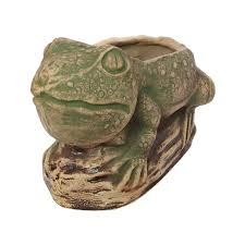 <b>Садовая фигура</b> из керамики, <b>кашпо Жаба</b> на камне,шамот, цена ...