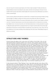 summary and analysis of the american scholar   is