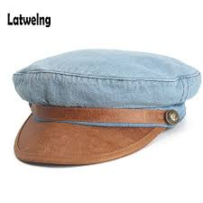 Female Washed <b>Denim</b> Octagonal Hats,Vintage Newsboy Caps ...