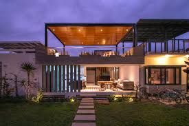 Modern Concrete Beach House Design   Rooftop Terrace   Home    contemporary concrete beach house plan design idea
