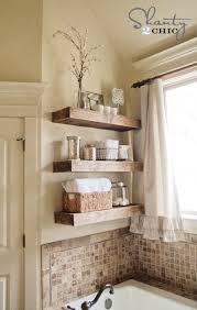 bathroom space savers bathtub storage:  diy space saving bathroom shelves and storage ideas
