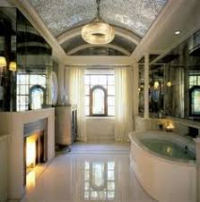 pics of bathroom designs: bathroom appealing pics of bathroom design ideas also luxury master bathroom with white bathtub and fireplace plus large wall mirror also wood bathroom