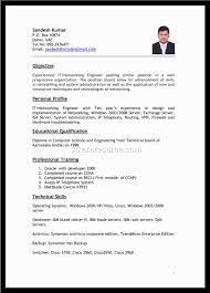 it resume format cipanewsletter format resume format samples