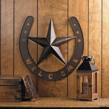 metal star wall decor:  quot metal welcome texas lone star horseshoe wall art country lone star wall decor awesome