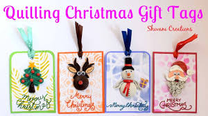 Quilling Christmas Gift Tags/ How to make Gift Tags/ How to write ...